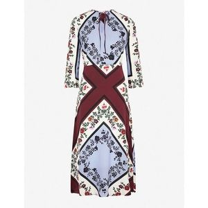 Sandro silk floral print dress